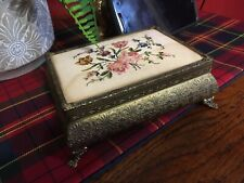 Tapestry Antique Jewellery Trinket Box ring