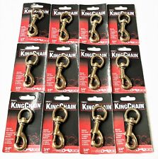 12 MIBRO 3-1/4 X 3/4 SOLID BRONZE SWIVEL DOG BOLT SNAP KEY CHAIN HOOK 487391