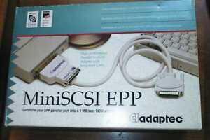 Adaptec MiniSCSI EPP Parallel-to-SCSI Adapter APA-358 Kit New in Box