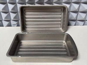 Lot of 2- Sub Zero Pro 3414350 Stainless Steel Refrigerator Bin