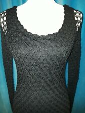Spiegel black sheath dress w/ open  knit overlay, great condition