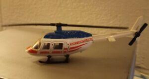 """1989 1995 Matchbox Sky Busters Diecast Model Bell Jet Ranger Helicopter vtg 4"""""""