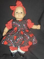 "Valentine Love Dress 15"" Doll Clothes Handmade to Fit American Girl Bitty Baby"