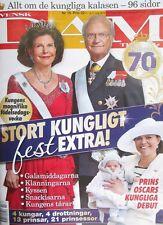 König King Carl Gustaf Schweden 70. Geburtstag Silvia Victoria Estelle Magazin