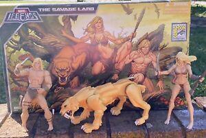Marvel Legends 2008 San Diego Comic Con Savage Land Set Kazar Shanna Zabu
