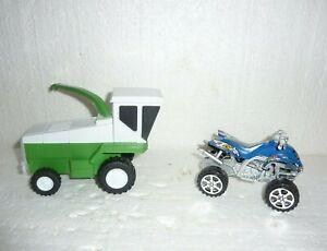 Plastic Toy Farm Combine & Toy ATV 4 Wheeler S-25