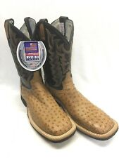 Men's Tony Lama Boots, Chadron Tan Full Quill Ostrich-Style 8987