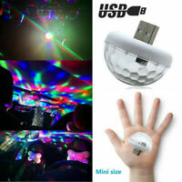USB LED Car Atmosphere Lamp Interior Ceiling Ambient Colorful Light Projector