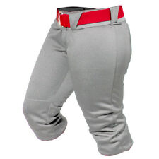 All-Star Vela Roll Top Women's Fastpitch Softball Pant - Grey - Small