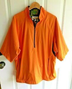 Footjoy Dryjoys Tour Collection Large Pullover Rain Jacket 1/2 Zip Short Sleeve