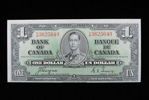 1937 $1 Dollar Bank of Canada Banknote U/M 3625649 Coyne Towers UNC* Grade Bill