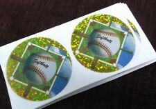 lot of 18 glitter softball mylar inserts trophy parts