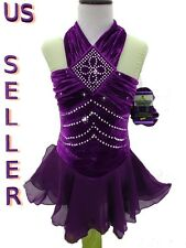 Fast Ship Figure Ice Skating Dance Twirling Baton S-Costume Dress Girls Small
