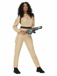 Sexy Ghostbusters Ladies Fancy Dress Halloween 1980s Ghostbuster Adults Costume