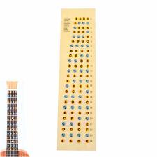 Ukulele Fretboard Note Map Sticker Fingerboard Frets Decals Beginner Practice Kw