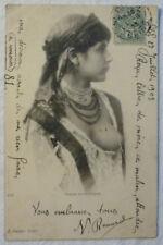 AK POSTKARTE JUNGE BARBUSIGE MAURIN  ALGERIEN 1903 ca. 9 x 14 cm nude