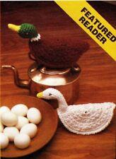HANDY Potholder Duck & Goose/CROCHET PATTERN INSTRUCTIONS ONLY