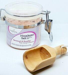 Himalayan Salt Bath Foot Soak Rose Orange Geranium 250g Kilner Jar Free W.Scoop