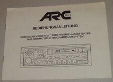 Betriebsanleitung ARC Autoradio ARC 600
