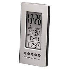 1039439 Hama Termometro LCD con Orologio e Calendario