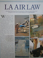 3/1991 ARTICLE LOS ANGELES POLICE LAPD HELICOPTER FLIR JETRANGER AS 350B1 ASTARS