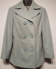 Size 10 Coat DEBENHAMS CLASSICS Mint Green Fitted Thick Heavy Women's Ladies