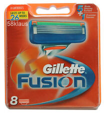 8x Gillette Fusion Klingen / 8er razor blades Gillete Gilette Gilete in OVP