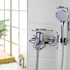 Chrome Bath Brass Shower Mixer Tap Hand Shower Bathtub Faucet With Hand Spray