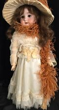 Rare Antique Special German Doll Bisque Head Sleep BrEyes Circa 1900-1910
