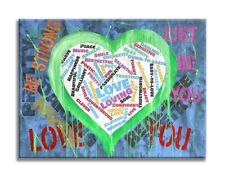 Heart - Love You Original Oil, Acrylic Painting on canvas, by Dr8Love
