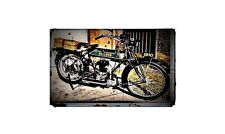 1915 Bullock Precision Bike Motorcycle A4 Retro Metal Sign Aluminium