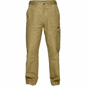 Prime Mover WWP700 Cotton Drill Pants with Cargo Pockets KHAKI