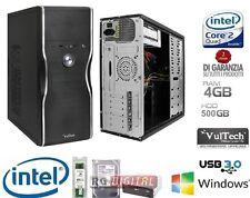 PC DESKTOP COMPLETO INTEL QUAD CORE HD 500GB/RAM 4GB/HDMI/DVI/VGA USB 3.0