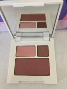 CLINIQUE EYE SHADOW DUO 14 STRAWBERRY FUDGE & 14 SMOLDERING PLUM BLUSHING BLUSH