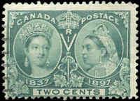 1897 Used Canada F Scott #52 2c Diamond Jubilee Issue Stamp