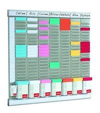 Nobo 7 Panel T Card Title Board Holder Midi Kit Office Planner Wall Rack System