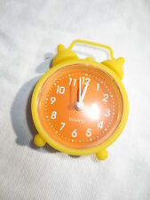 NEW mini retro style rubber glow in the dark alarm clock yellow orange