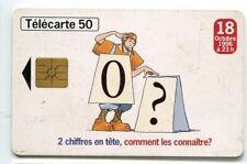 TELECARTE 50 2 CHIFFRES EN TETE COMMENT LES CONNAITRE