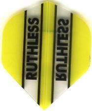 YELLOW/CLEAR RUTHLESS Dart Flights: 3 per set