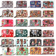 Ladies Women Designer Oilcloth Large Purse Wallet Girls Coin Purse Handbag Bag