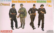 1/35 Ghost Division Tank Crew Blitzkrieg 1940 (4 Figures Set) Plastic Model