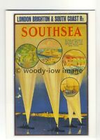 ad3045 -  London Brighton & South Coast Ry - Southsea in Spotlights  - Postcard
