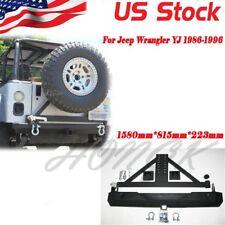 For 87-06 Jeep Wrangler YJ TJ Rock Crawler Rear Bumper Tire Carrier Swing&D-RING