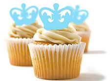 ✿ 24 Edible Rice Paper Cup Cake Toppings, Cake decs - Crown ✿