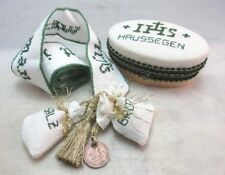 Jewish New Home gift. Haussegen House Blessing embroidered ribbon