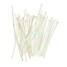Wholesale Silver Plated Ball Head Eye Pins Jewelry Finding 15/20/30/40/50/60mm
