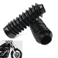 41mm Rubber Fork Cover Gaiters Gators Boots For Harley Softail FXST Dyna FXDWG