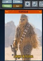 Star Wars Card Trader Topps Digital Vintage Series 4 W3 Wookie On Pasaana