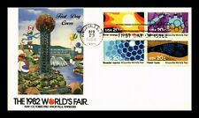 US COVER KNOXVILLE TENNESSEE WORLDS FAIR FDC SETENANT COLORFUL CACHET
