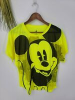 Disney Parks Authentic Original Size M Mickey Mouse Tee Shirt Yellow #H